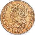 Early Half Eagles, 1810 $5 Large Date, Large 5, BD-4, R.2, XF40 ANACS....