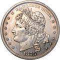 Patterns, 1879 $1 Goloid Metric Dollar, Judd-1626, Pollock-1822, R.4 -- Cleaned -- ANACS. PR60 Details....
