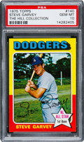 Baseball Cards:Singles (1970-Now), 1975 Topps Steve Garvey #140 PSA Gem Mint 10....