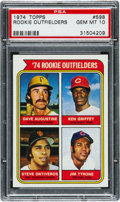 Baseball Cards:Singles (1970-Now), 1974 Topps Rookie Outfielders #598 PSA Gem Mint 10 - Pop Three....