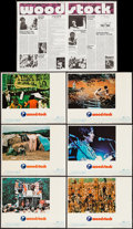 "Movie Posters:Rock and Roll, Woodstock (Warner Brothers, 1970). Lobby Cards (6) (11"" X 14""),Herald (2 Pages, 10.75"" X 15"") & Uncut Pressbook (22 Pages, ...(Total: 8 Items)"
