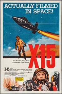 "X-15 (United Artists, 1961). One Sheet (27"" X 41""). Adventure"