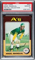Baseball Cards:Singles (1970-Now), 1975 Topps Angel Mangual #452 PSA Gem Mint 10 - Pop One....