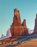 Paintings, Ed Mell (American, b. 1942). Desert Tower. Oil on canvas. 60 x 48-3/8 inches (152.4 x 122.9 cm). Signed lower right: E...
