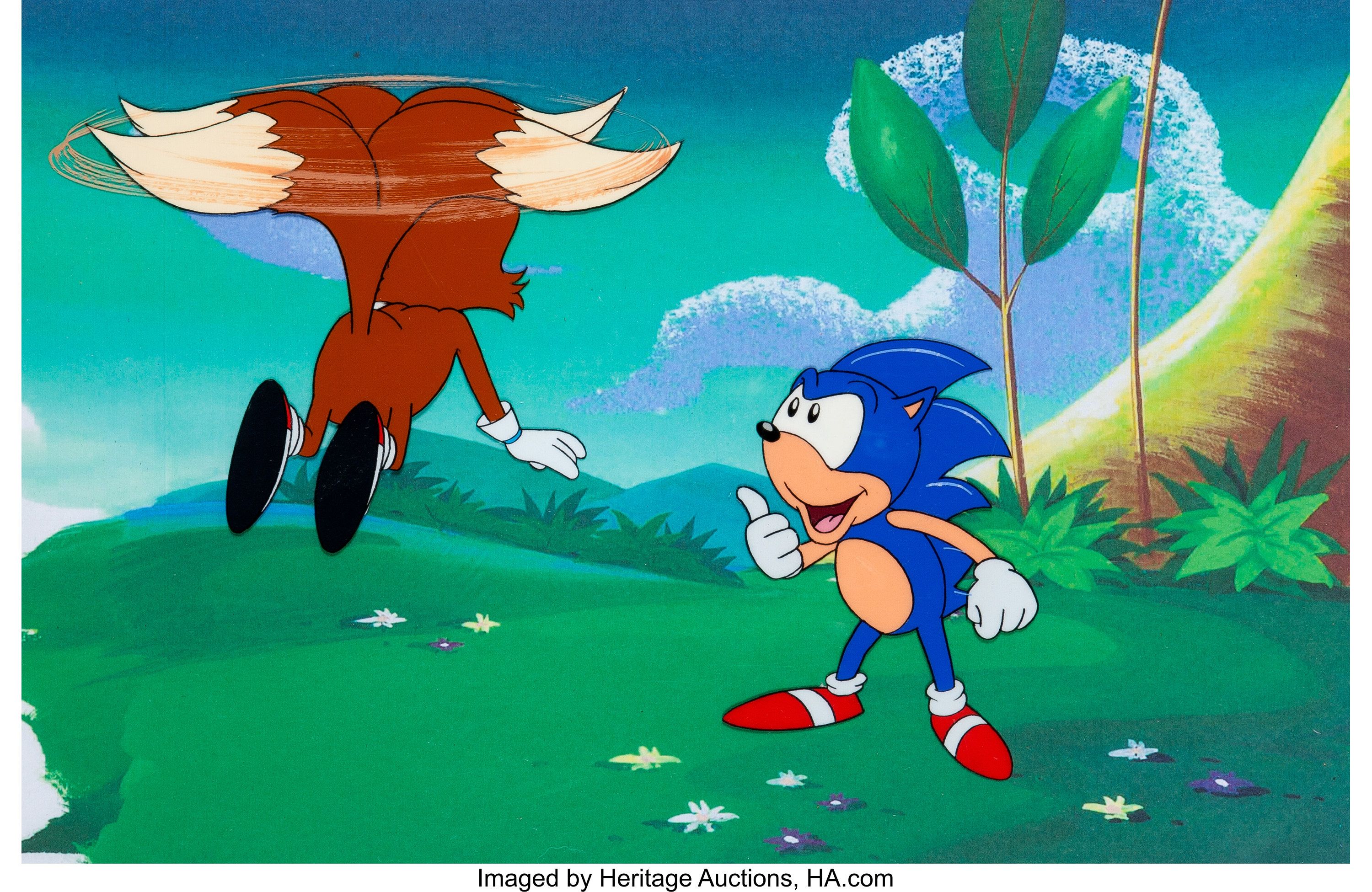 Sonic The Hedgehog Tails And Sonic Production Cel Setup Dic Lot 15181 Heritage Auctions