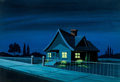 Animation Art:Painted cel background, Batman/Superman Hour Clark Kent's Home Painted ProductionBackground (Filmation, 1968)....
