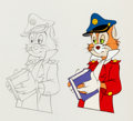 Animation Art:Production Cel, ABC Weekend Special Cap'n O. G. Readmore Production Cel(ABC, 1985).... (Total: 2 Original Art)