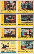 "Movie Posters:Comedy, How to Be Very, Very Popular (20th Century Fox, 1955). Lobby Card Set of 8 (11"" X 14""). Comedy.. ... (Total: 8 Items)"