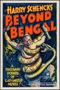 """Movie Posters:Adventure, Beyond Bengal (Showmens Pictures, 1934). One Sheet (27"""" X 41"""").Adventure.. ..."""
