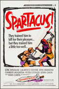 "Movie Posters:Action, Spartacus (Universal International, R-1967). One Sheet (27"" X 41"")Style A, & Pressbook (14 Pages, 8.75"" X 13.75""). Action....(Total: 2 Items)"