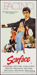 "Movie Posters:Crime, Scarface (Universal, 1983). Australian Daybill (13.25"" X 26.75"").Crime.. ..."