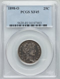 Barber Quarters: , 1898-O 25C XF45 PCGS. PCGS Population (9/98). NGC Census: (1/60). Mintage: 1,868,000. Numismedia Wsl. Price for problem fre...