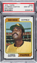 Baseball Cards:Singles (1970-Now), 1974 Topps Clarence Gaston #364 PSA Gem Mint 10 - Pop One....