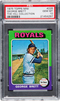 Baseball Cards:Singles (1970-Now), 1975 Topps Mini George Brett #228 PSA Gem Mint 10....