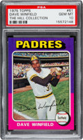 Baseball Cards:Singles (1970-Now), 1975 Topps Dave Winfield #61 PSA Gem Mint 10 - Pop One....