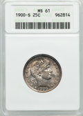 Barber Quarters: , 1900-S 25C MS61 ANACS. NGC Census: (2/38). PCGS Population (2/64). Mintage: 1,858,585. Numismedia Wsl. Price for problem fr...