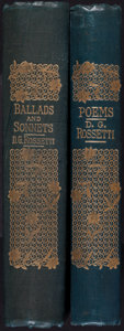 Books:Literature Pre-1900, Dante Gabriel Rossetti. Ballads and Sonnets. London: Ellisand White, 1882.... (Total: 2 Items)
