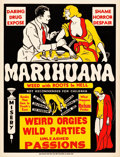 "Movie Posters:Exploitation, Marihuana (Roadshow Attractions, 1936). Trimmed One Sheet (28.5"" X37"").. ..."