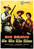 "Movie Posters:Western, Rio Bravo (Warner Brothers, 1959). Spanish One Sheet (27.75"" X39"").. ..."