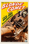 "Movie Posters:Sports, Blonde Comet (PRC, 1941). One Sheet (27"" X 41"").. ..."