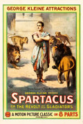 "Movie Posters:Drama, Spartacus (George Kleine Attractions, 1914). One Sheet (28"" X42.25""). Original Title: Spartaco.. ..."