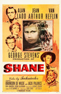 "Movie Posters:Western, Shane (Paramount, 1953). One Sheet (27"" X 41"").. ..."