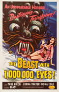 "Movie Posters:Science Fiction, The Beast with 1,000,000 Eyes! (American Releasing Corp., 1955).One Sheet (26.5"" X 41"").. ..."