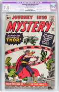 Silver Age (1956-1969):Superhero, Journey Into Mystery #83 (Marvel, 1962) CGC Apparent VF- 7.5Moderate (B-3) Off-white to white pages....