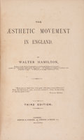 Books:Art & Architecture, Walter Hamilton. The Aesthetic Movement in England. London: Reeves & Turner, 1882....