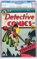 Golden Age (1938-1955):Superhero, Detective Comics #40 (DC, 1940) CGC VG 4.0 Off-white to white pages....