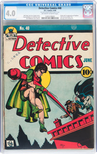 Detective Comics #40 (DC, 1940) CGC VG 4.0 Off-white to white pages