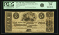 Obsoletes By State:Arkansas, Fayetteville, AR - Bank of the State of Arkansas $5 Post Note Aug. 8, 1838 AR-10 G152, Rothert 186-6. PCGS Very Fine 20.. ...