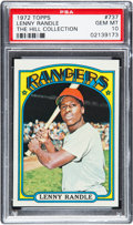 Baseball Cards:Singles (1970-Now), 1972 Topps Lenny Randle #737 PSA Gem Mint 10 - Pop One. ...