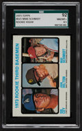 Baseball Cards:Singles (1970-Now), 1973 Topps Rookie 3rd Basemen Mike Schmidt/Ron Cey #615 SGC 92NM/MT+ 8.5....