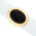 Estate Jewelry:Rings, Black Onyx, Gold Ring. ...