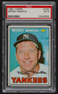 Baseball Cards:Singles (1960-1969), 1967 Topps Mickey Mantle #150 PSA EX 5....