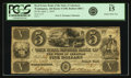 Obsoletes By State:Arkansas, Washington, AR - Real Estate Bank of the State of Arkansas $5 April 1, 1839 AR-5 G90, Rothert 680-1. PCGS Fine 15.. ...