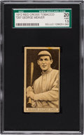 Baseball Cards:Singles (Pre-1930), 1912 T207 Red Cross Tobacco Buck Weaver SGC 20 Fair 1.5. ...