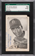 Baseball Cards:Singles (1940-1949), 1947 Bond Bread Jackie Robinson, Portrait SGC 10 Poor 1 With Cardozo Market Stamp. ...