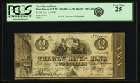 New Haven, CT - New Haven Bank $2 Jan. 1, 1846 CT-290 G60. PCGS Very Fine 25