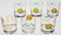 Football Collectibles:Others, 1969 Green Bay Packers 50th Anniversary Glasses Lot of 6....