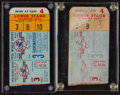 Baseball Collectibles:Tickets, 1956 World Series Game 3 Ticket Stubs Lot of 2....