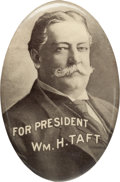 Political:Pinback Buttons (1896-present), William Howard Taft: Oval Picture Pin....
