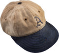 Baseball Collectibles:Uniforms, Circa 1929-30 Lefty Grove Game Worn Philadelphia Athletics Cap, MEARS Authentic....