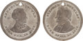 Political:Tokens & Medals, Abraham Lincoln and Stephen A. Douglas: Pair of Matching Tokens....