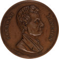 Political:Tokens & Medals, Abraham Lincoln: High-Relief Copper Medal....