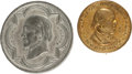 Political:Tokens & Medals, Horace Greeley: Brass Shell Badge and Medal.... (Total: 2 Items)