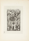 Books:Literature Pre-1900, Dante Gabriel Rossetti. Phoebe Anna Traquair, illustrator. LIMITED.The House of Life: Sonnets and Songs of Dante Gabrie...