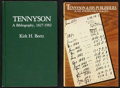 Books:Reference & Bibliography, [Alfred Lord Tennyson]. Kirk H. Beetz. Tennyson: A Bibliography,1827-1982. Metuchen, N.J. and London: The Scarecrow... (Total:2 Items)