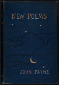 Books:Literature Pre-1900, John Payne. New Poems. London: Newman and Co., 1880....
